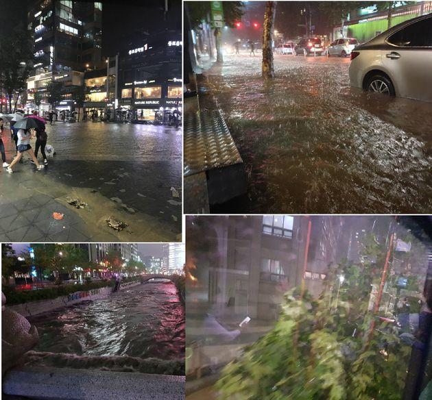 물에 잠긴 서울…시민고립·도로통제·침수피해