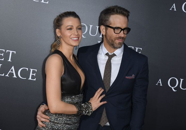 "Lively and Ryan Reynolds at the premiere for ""A Quiet Place"" in New York on April 2. In a recent Instagram&n"