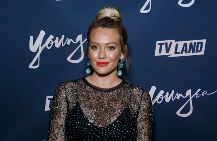 "These days, ""Younger"" star Hilary Duff feels mom guilt when her 6-year-old asks why she has to work ""so far away."""