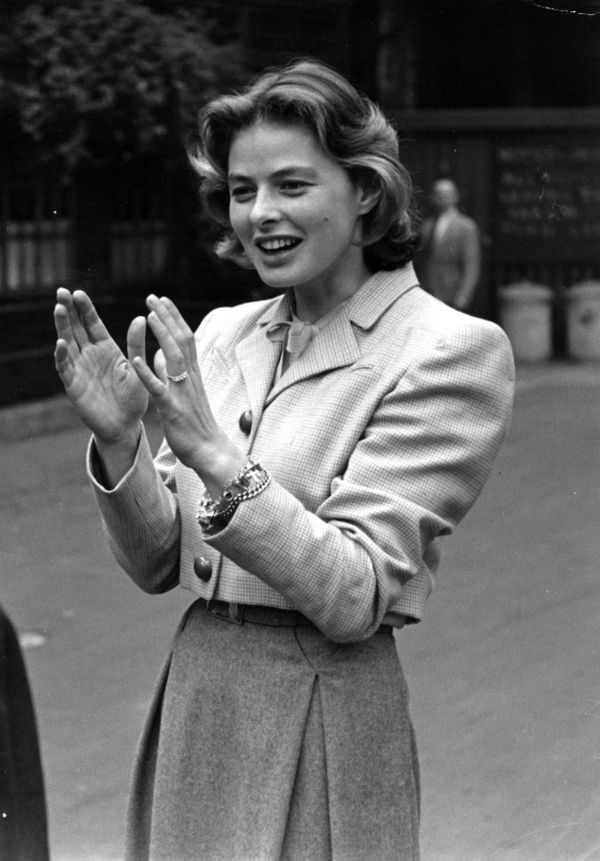 """The actress in London after filming Alfred Hitchcock's """"Under Capricorn."""""""