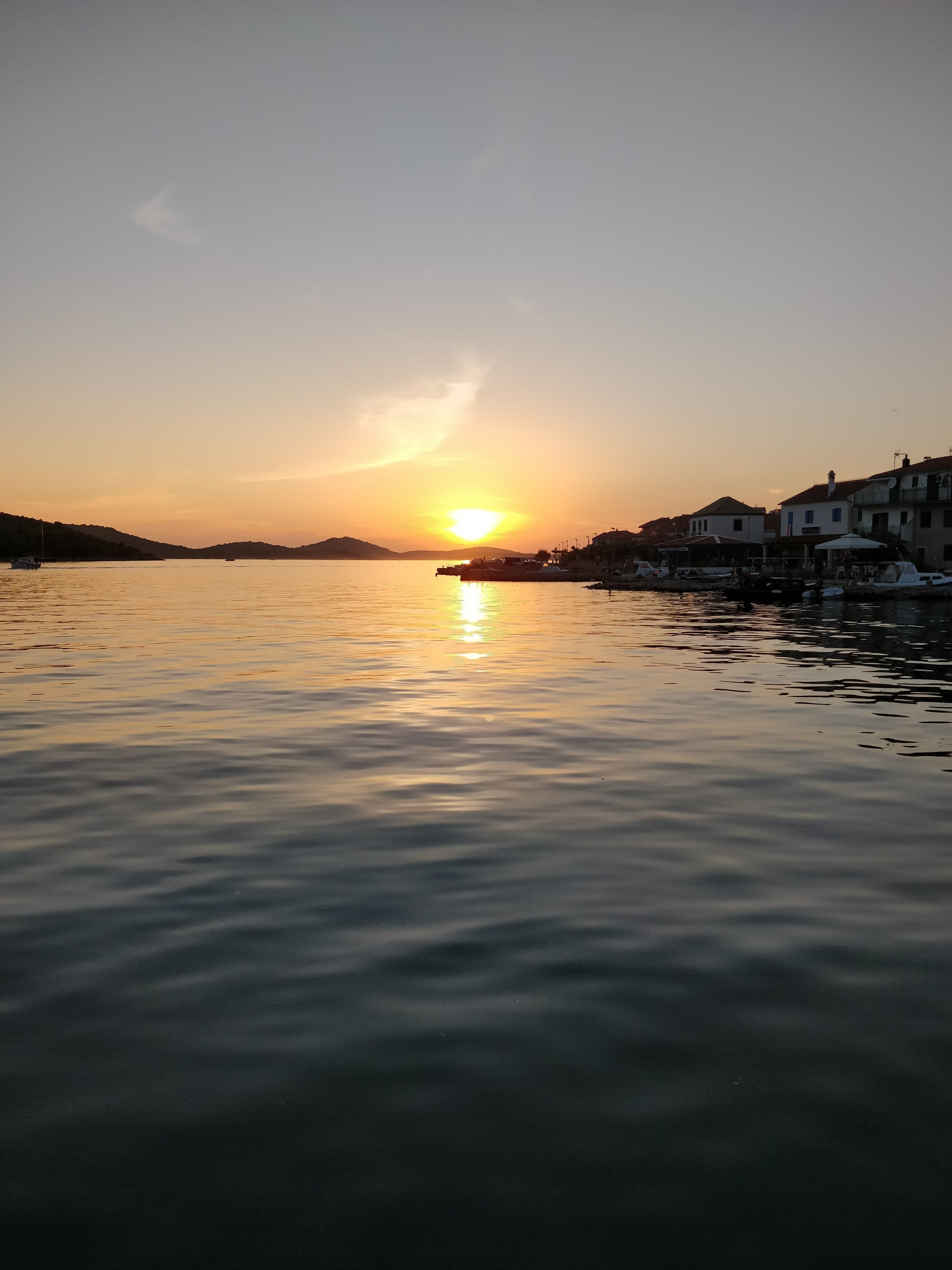 A snap of the sunset taken from the island of Kaprije, Croatia, and later posted to