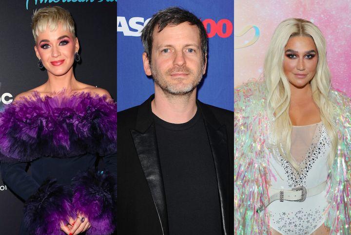 Katy Perry, Dr. Luke and Kesha.