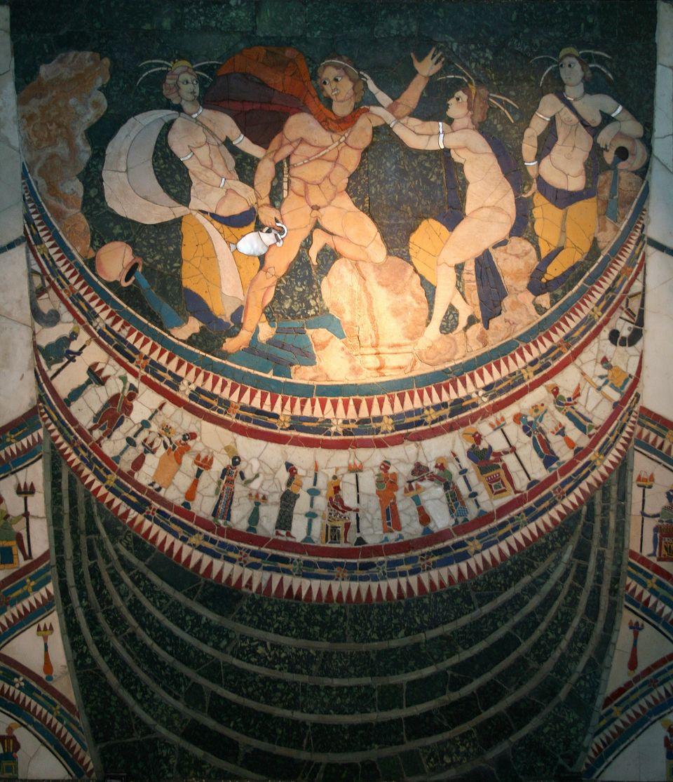 Εικ.6. Διακοσμητικός πίνακας προερχόμενος από την Βασιλική Junius Bassus με την τεχνική Opus Sectile,...