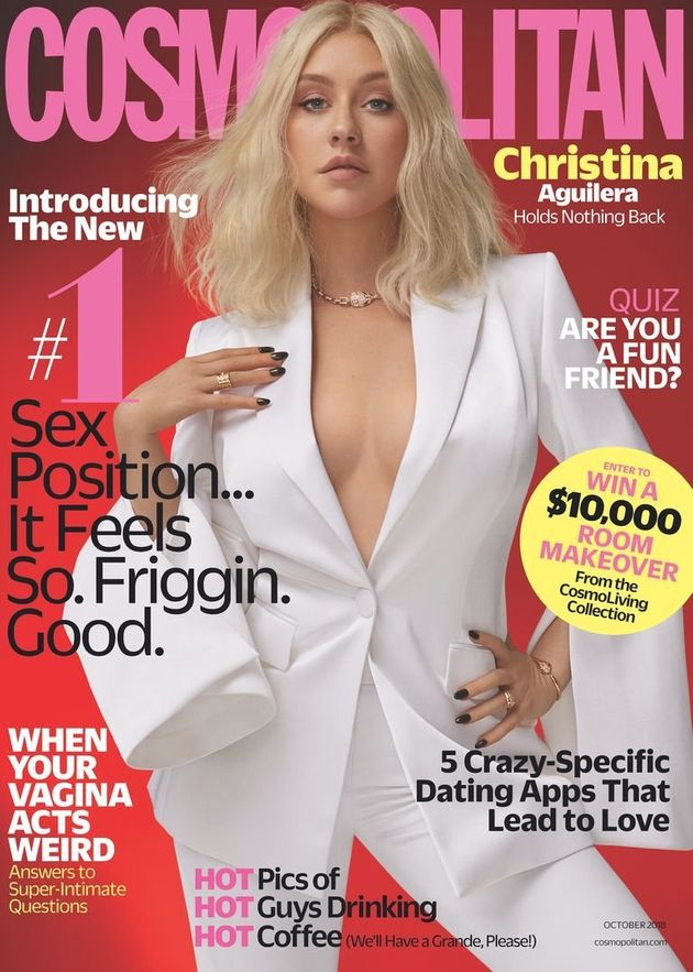 Aguilera explains why she just won't date another celeb in the Cosmo's new Oct.