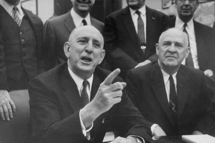 Sen. Richard Russell Jr. (front left) meeting with other Southern senators in 1959.