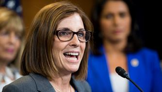 UNITED STATES - SEPTEMBER 17: Rep. Martha McSally, R-Ariz., holds a news conference with female members of the House Armed Services Committee in the U.S. Capitol on Thursday, Sept. 17, 2015, on a resolution honoring Army Ranger women graduates. (Photo By Bill Clark/CQ Roll Call)