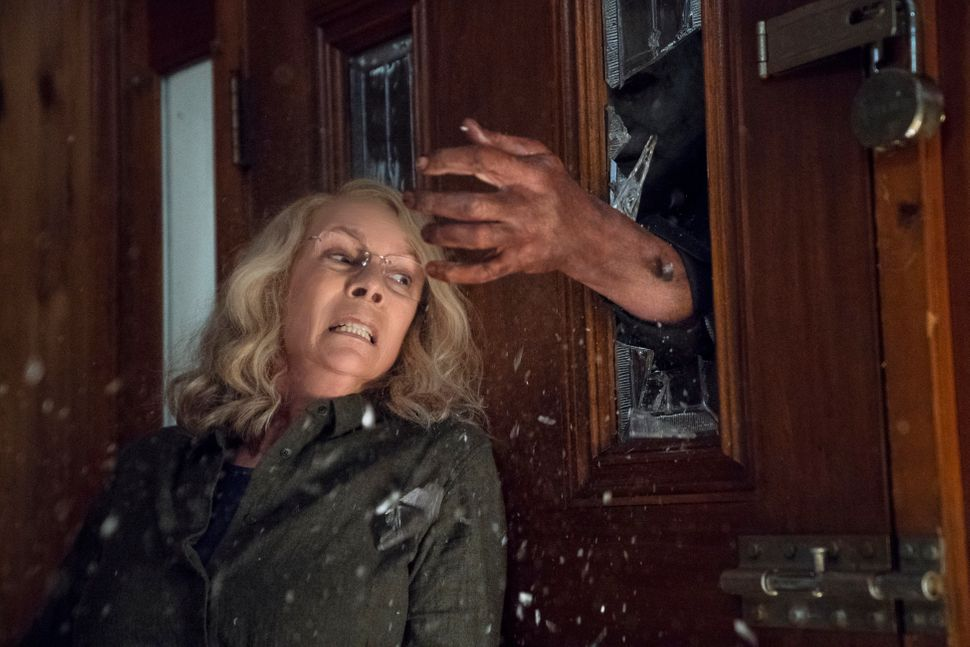 "Jamie Lee Curtis in the new ""Halloween."""