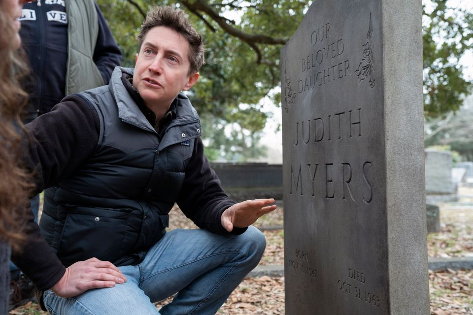 David Gordon Green on the set of