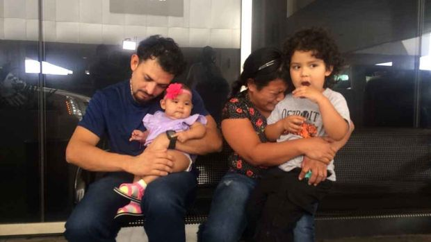 The Reyes-Mejia family are reunited after 35 months apart