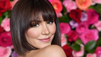 US singer Katharine McPhee attends the 2018 Tony Awards - Red Carpet at Radio City Music Hall in New York City on June 10, 2018. (Photo by ANGELA WEISS / AFP)        (Photo credit should read ANGELA WEISS/AFP/Getty Images)