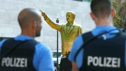 Aus für den goldenen Erdogan: Die Stadt Wiesbaden hat die umstrittene Kunstaktion beendet