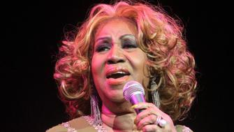 Aretha Franklin performs in concert at Radio City Music Hall in New York City.