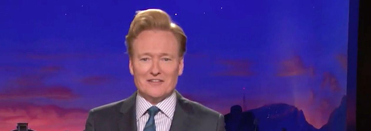 Conan O'Brien Zings Trump With 'Roseanne' Funeral