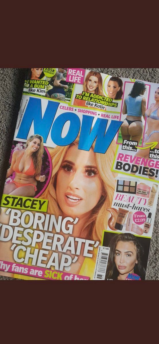 Stacey Solomon Slams Now Magazine For 'Bullying' Cover That Branded Her 'Boring, Desperate And