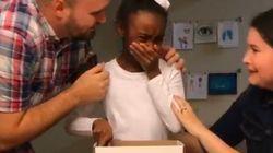 Cette fillette qui apprend qu'elle va être adoptée a bouleversé six millions