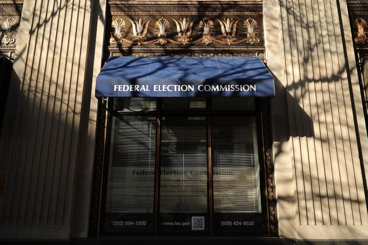 """A photo of the Federal Election Commission's former headquarters taken on October 24, 2016 in Washington, D.C. In March, the agency moved from 999 E St. NW, where it had resided <a href=""""https://www.publicintegrity.org/2016/01/07/19101/federal-election-commission-may-vacate-headquarters"""" role=""""link"""" class="""" js-entry-link cet-external-link"""" data-vars-item-name=""""since 1985"""" data-vars-item-type=""""text"""" data-vars-unit-name=""""5b86ae19e4b0162f471e778a"""" data-vars-unit-type=""""buzz_body"""" data-vars-target-content-id=""""https://www.publicintegrity.org/2016/01/07/19101/federal-election-commission-may-vacate-headquarters"""" data-vars-target-content-type=""""url"""" data-vars-type=""""web_external_link"""">since 1985</a>, to the upper floors of a modern office building north of Union Station in Washington, D.C.'s NoMa neighborhood."""
