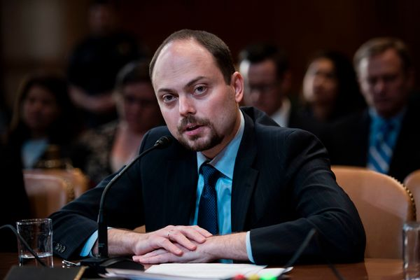 Kara-Murza (shown during a hearing on Capitol Hill in 2017) is a Russian activist and an outspoken critic of Russian Presiden