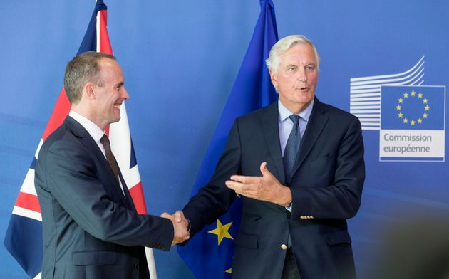 Dominic Raab played down reports Michel Barnier was not available for