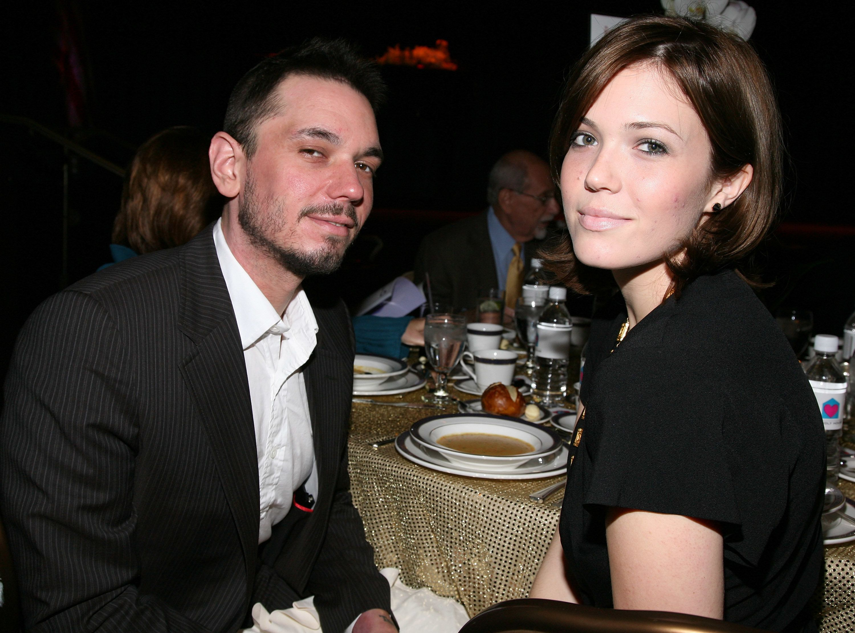 BEVERLY HILLS, CA - OCTOBER 18:  Adam Goldstein (DJ AM) and Mandy Moore attend the Friendly House 19th Annual Awards Luncheon at the Beverly Hilton Hotel on October 18, 2008 in Beverly Hills, California.  (Photo by Angela Weiss/Getty Images)
