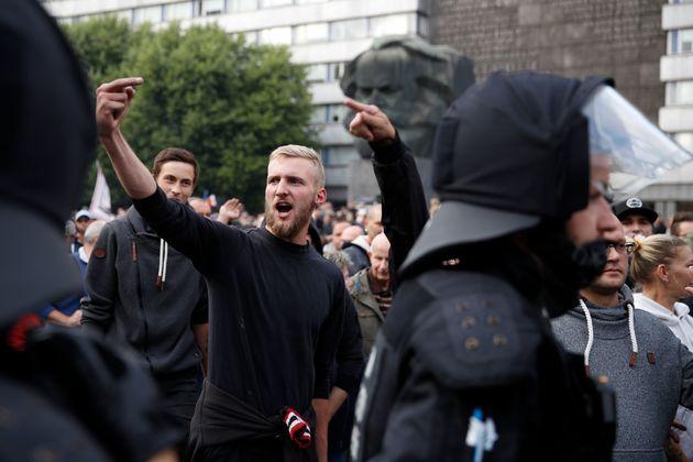 Rechte Demonstranten in