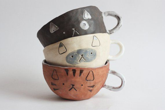 """Normally $39, on sale for $31.20.<br>Get it <a href=""""https://www.etsy.com/listing/470090194/free-shippingcat-cup-handmade-cat"""