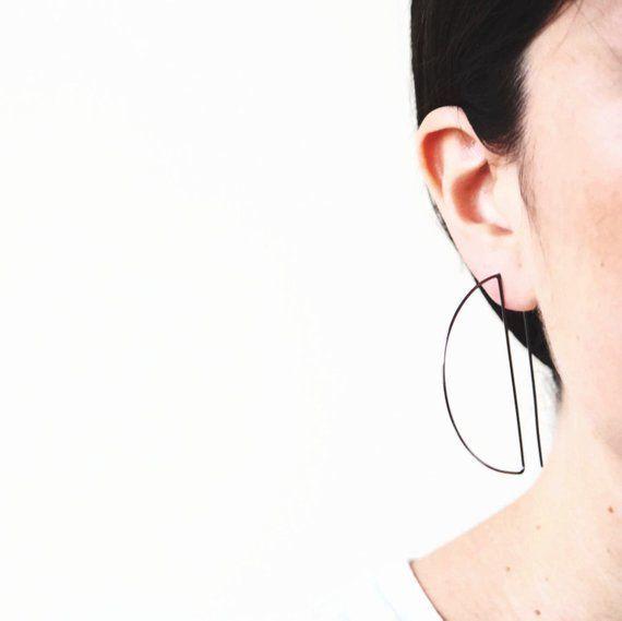 """Normally $45, on sale for $36.<br>Get it <a href=""""https://www.etsy.com/listing/266959362/hoop-earrings-geometric-earrings-bla"""