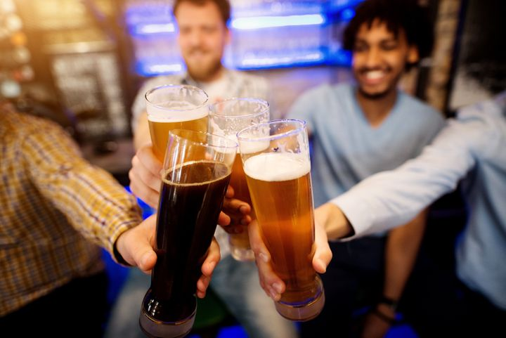 """At social gatherings, drink some nonalcoholic as well as alcoholic beverages; don't forget to eat, drink plenty of water, and stand up to peer pressure to drink,"" Lander advises."