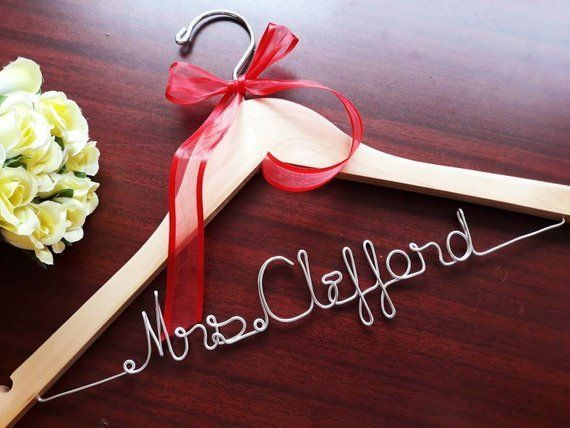 """Normally $10, on sale for $5.87.<br>Get it <a href=""""https://www.etsy.com/listing/588953388/sale-personalized-wedding-hanger-b"""