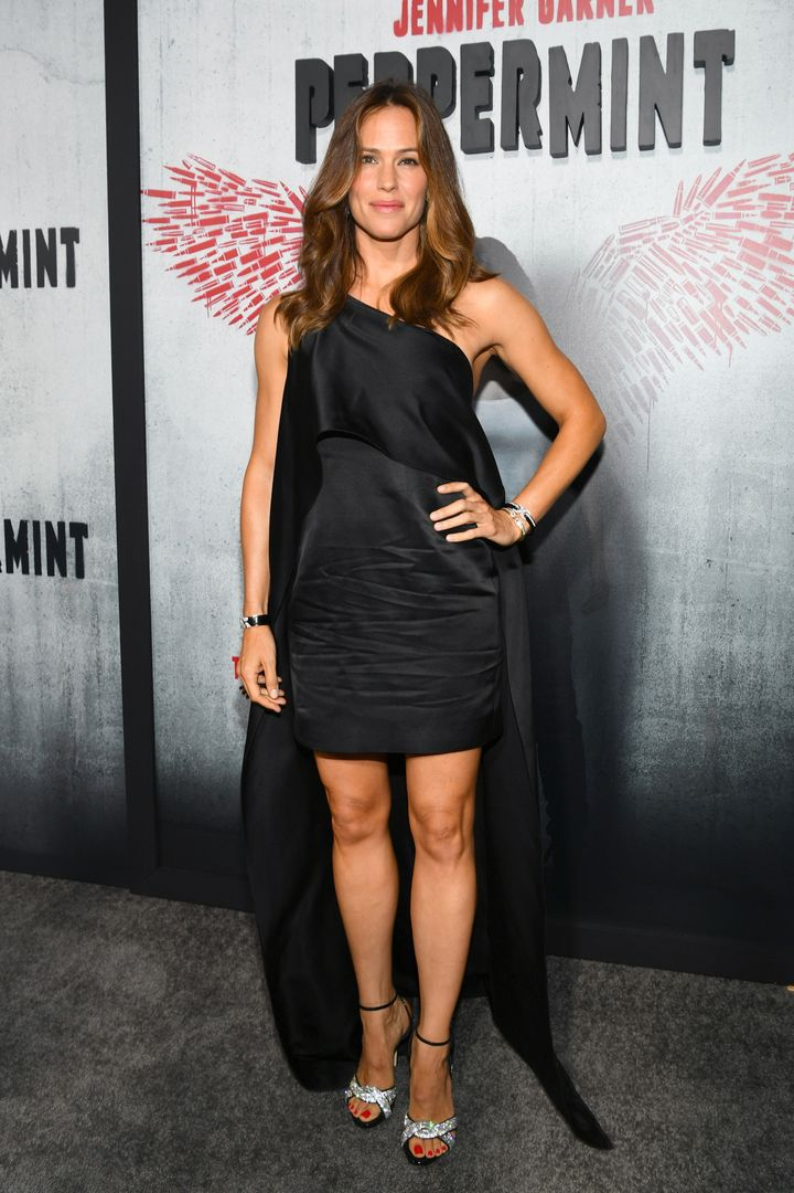 "Jennifer Garner attends the premiere of STX Entertainment's ""Peppermint."""