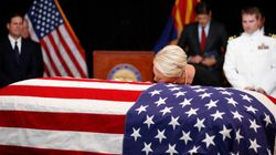 Cindy McCain Kisses Husband John McCain's Casket During Arizona