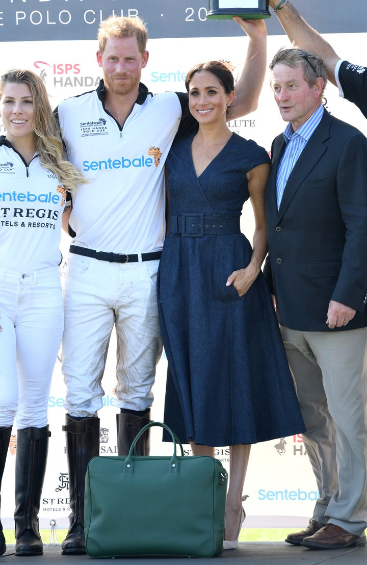 Meghan, Duchess of Sussex, and Prince Harry at the Sentebale ISPS Handa Polo Cup.