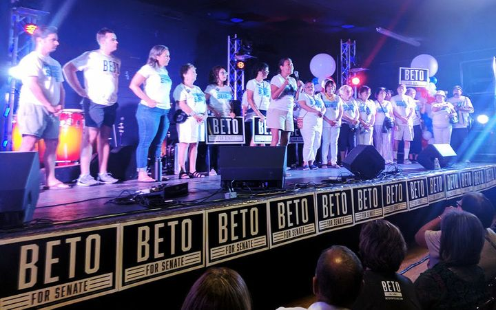 Veronica Escobar, who is likely to take Beto O'Rourke's seat in the U.S. House of Representatives serving El Paso, speaks at