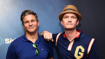 NEW YORK, NY - AUGUST 29:  David Burtka and Neil Patrick Harris visit  SiriusXM Studios on August 29, 2018 in New York City.  (Photo by Theo Wargo/Getty Images)