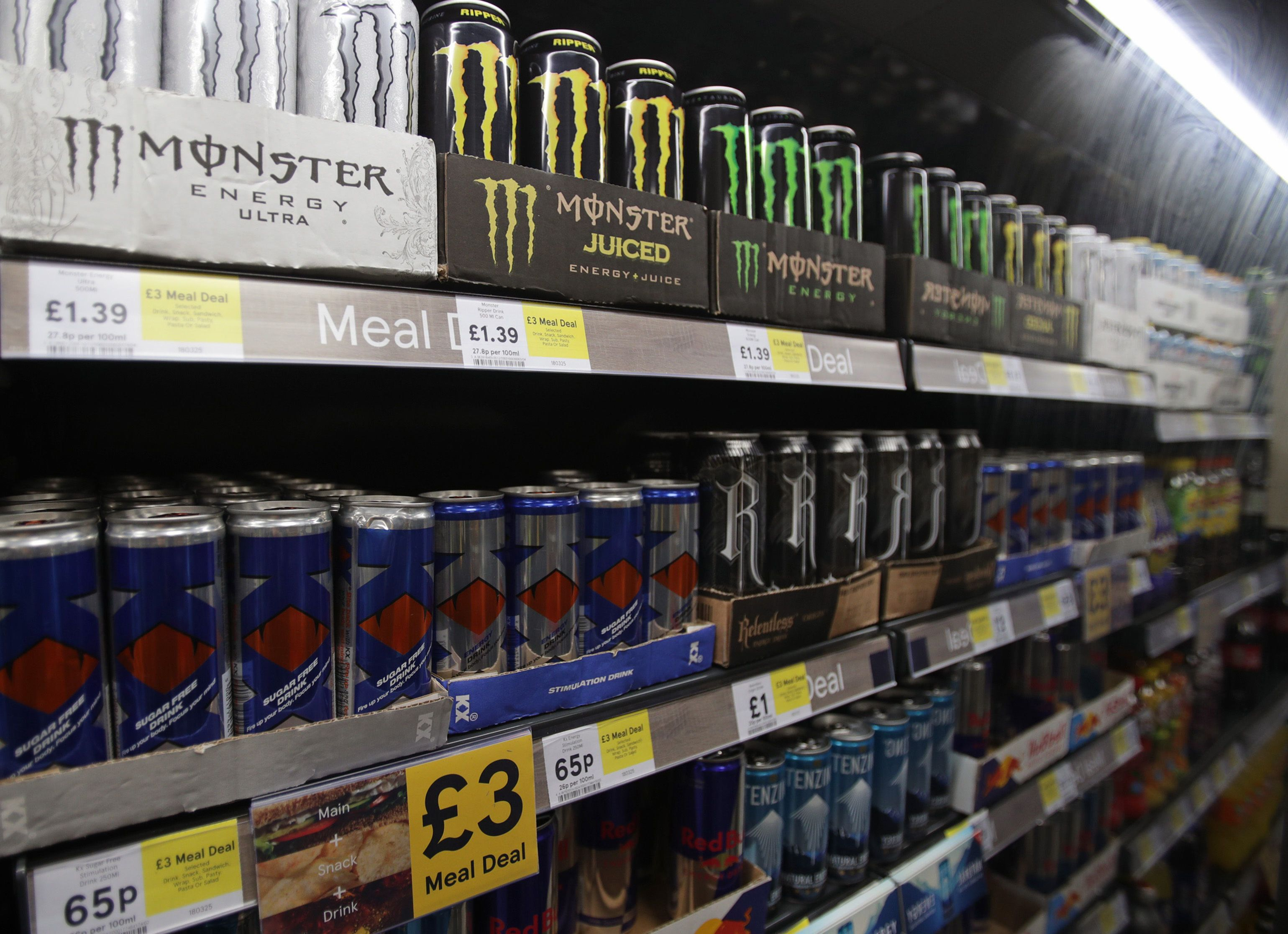 Children to be banned from buying energy drinks under government plans