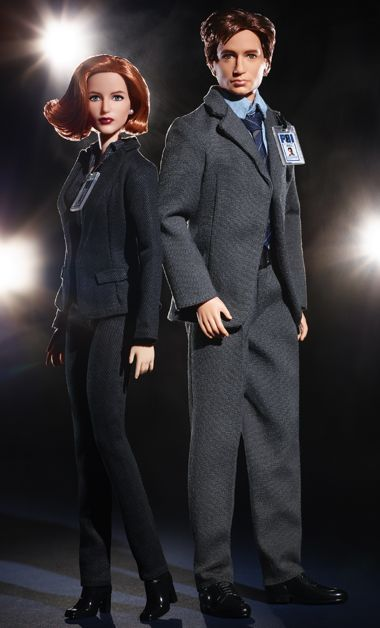 "The truth is out there? Yeah, in the toy chest! That's because Mattel has come out with Barbie versions of ""X-Files"" characte"