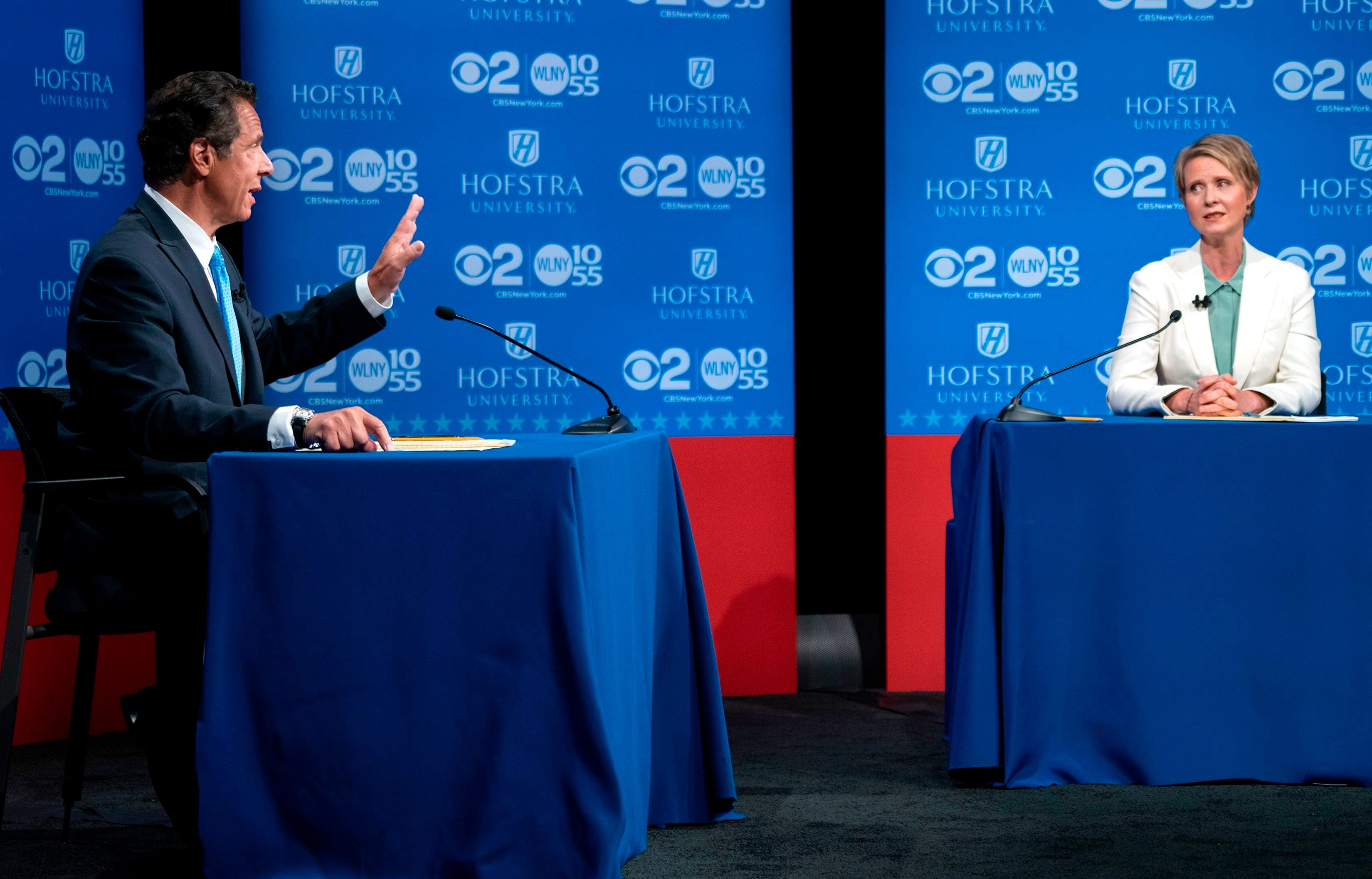 Andrew Cuomo Battles Cynthia Nixon Over NY Subways in Fiery Gov Debate
