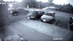 (영상)테슬라 차량이 하늘을 나는 장면이 CCTV에 고스란히