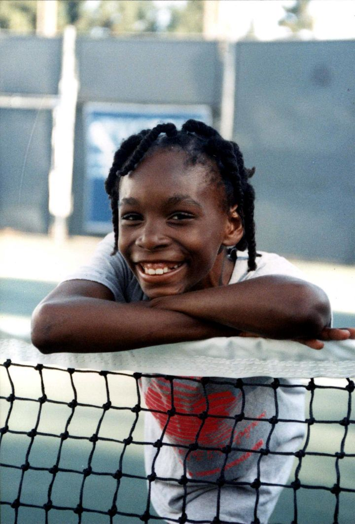 Venus Williams pictured during practice in 1991.