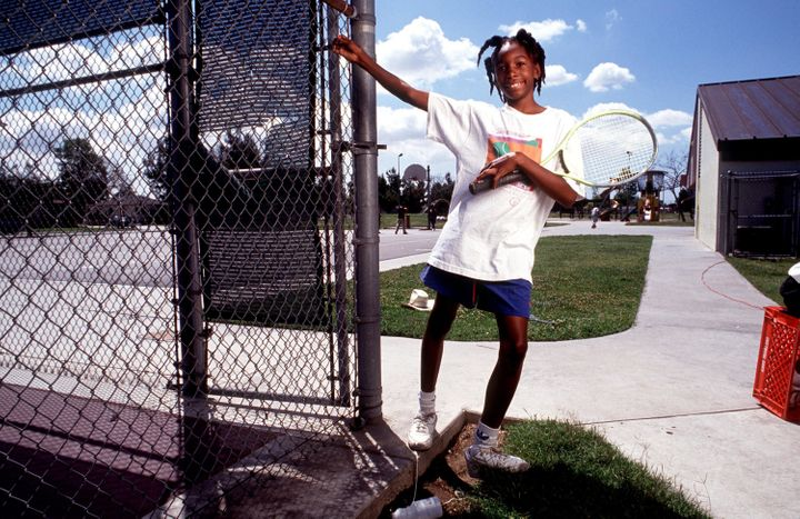 Venus Williams was just 11 years old when this photograph was taken.