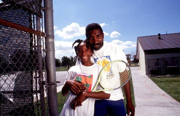 Richard Williams with his young daughter Venus Williams.
