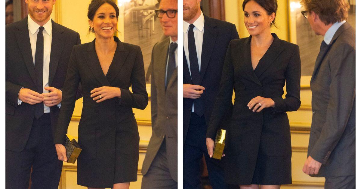 31cae49206a80 Looks We Love: Meghan Markle's Black Tuxedo Mini Dress | HuffPost UK