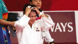 유도 안창림이 연장전 끝에 은메달을 목에