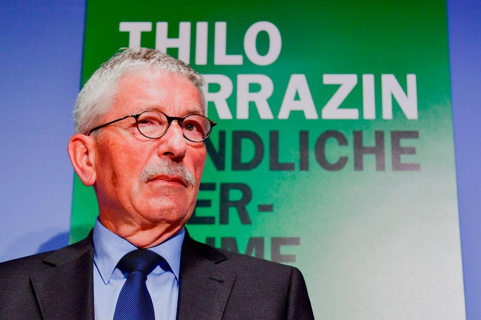 Thilo Sarrazin bei der Vorstellung seines neuen