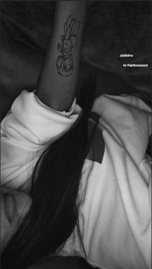 Grande revealed a close-up of her tattoo on her Instagram story.