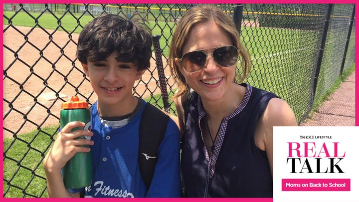 Mom Lisa Lombardi with her son Gus, who has a food allergy.
