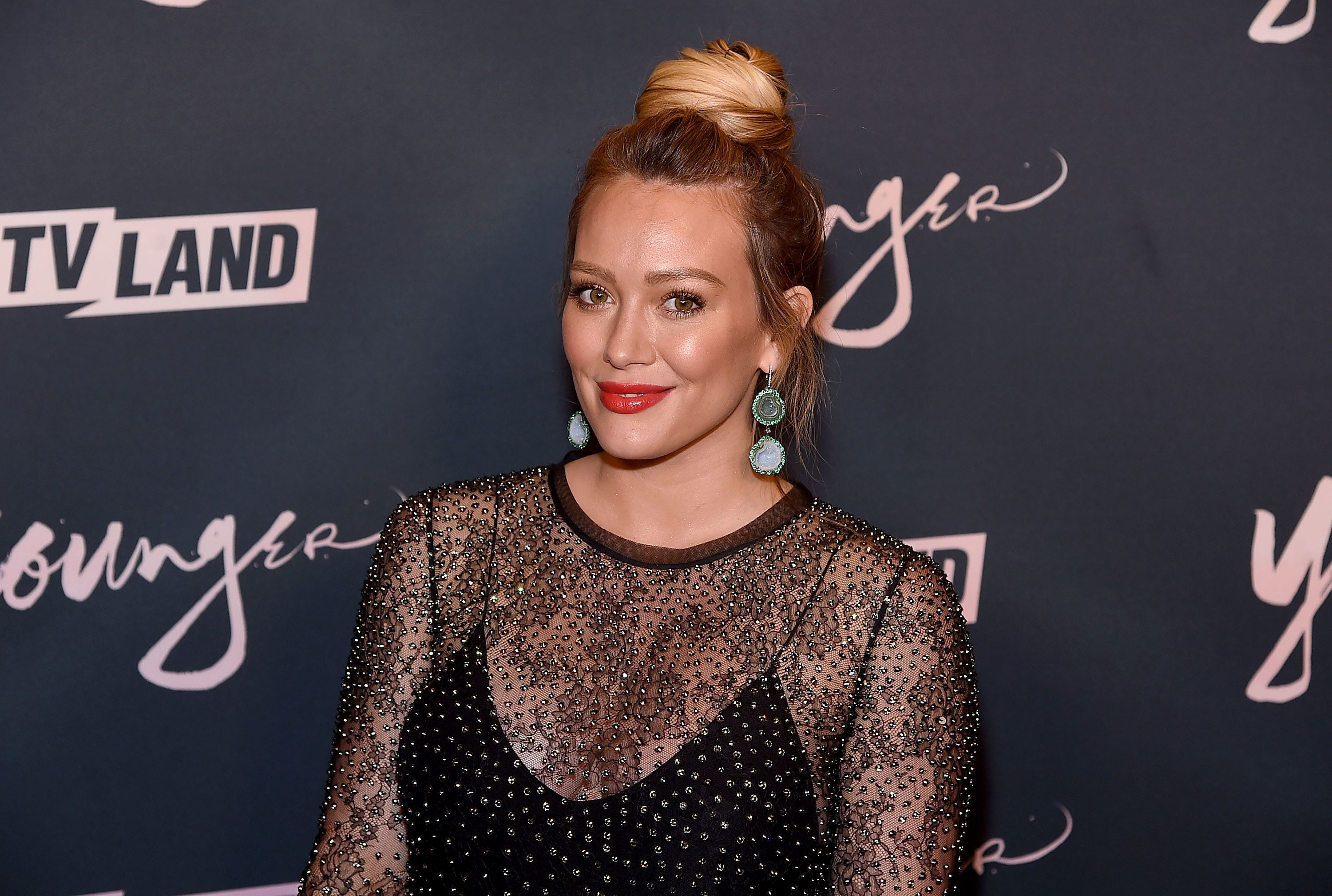 BROOKLYN, NY - JUNE 04:  Hilary Duff attends the 'Younger' Season 5 Premiere Party at Cecconi's Dumbo on June 4, 2018 in Brooklyn, New York.  (Photo by Jamie McCarthy/Getty Images)