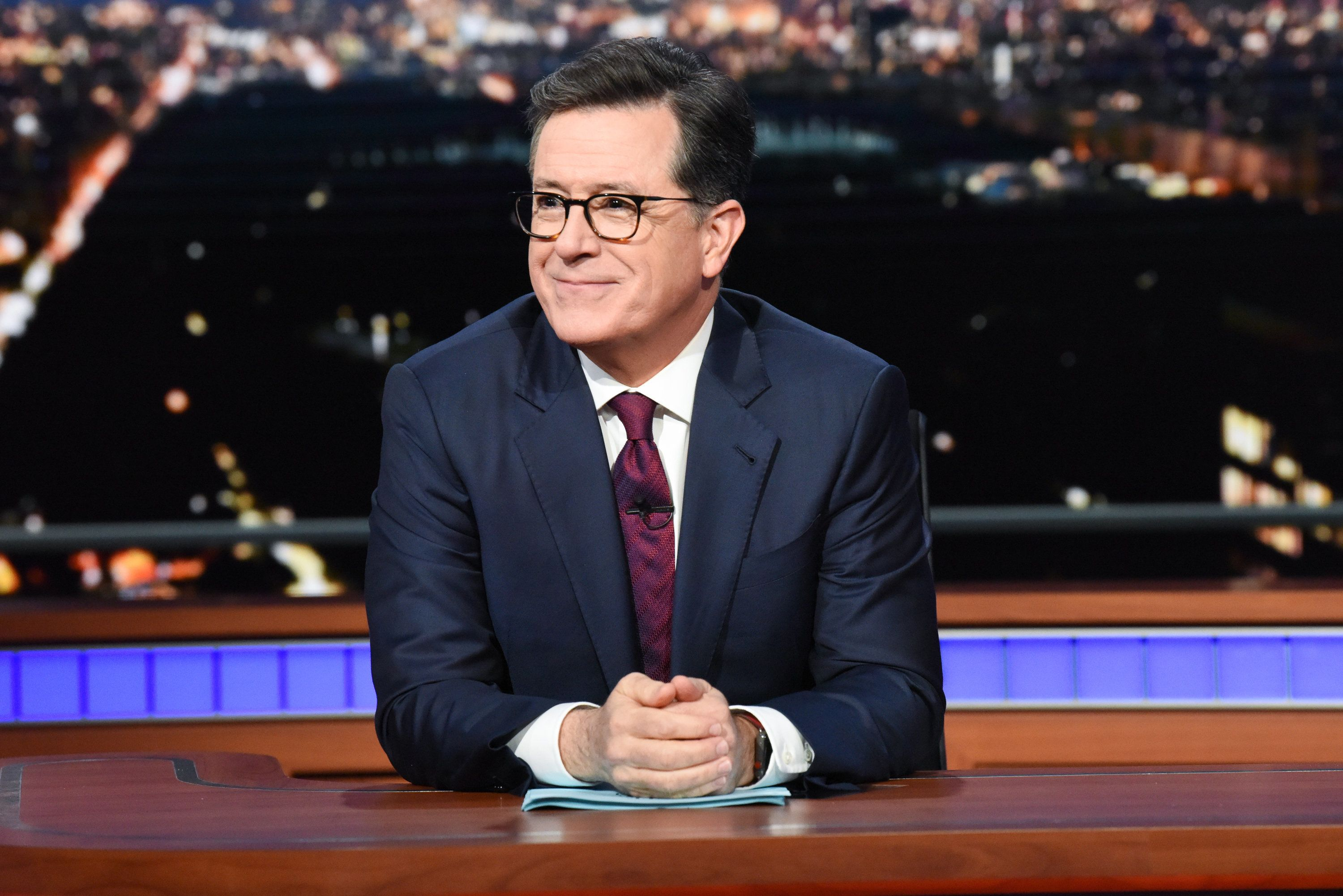 NEW YORK - MAY 22: The Late Show with Stephen Colbert during Tuesday's May 22, 2018 show. (Photo by Scott Kowalchyk/CBS via Getty Images)