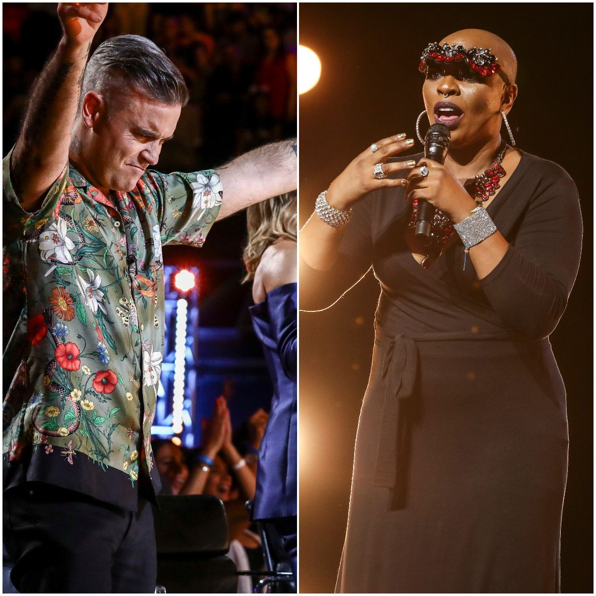 Robbie Williams Has Emotional 'X Factor' Moment As 90s Dance Singer Janice Robinson