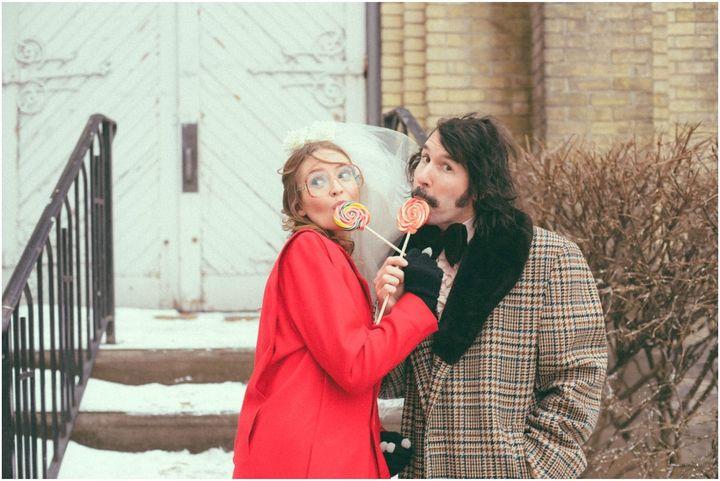 "Such a sweet couple.🍭<a href=""https://emojipedia.org/lollipop/""></a>"
