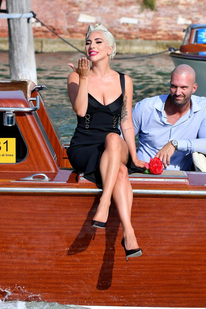 Lady Gaga is seen during the 75th Venice Film Festival.
